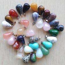 Wholesale Lot 50pcs MIX Natural Stone tears Gemstone Pendant Necklace