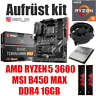 PC Bundle Kit Set ❤ AMD Ryzen 5 3600 ✔ B450 Mainboard ✔ DDR4 16GB 3000 ✔  ≈ 2700
