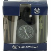 Smith & Wesson Military Black Face Tactical Watch w/ 3 Bands Straps Gift Set