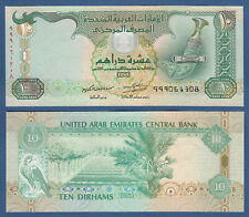 V. A. EMIRATE / EMIRATES 10 Dirhams 2013 Replacement 999 UNC P.27 br
