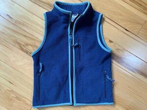 OLD NAVY Fleece Vest Sz 4-5 Boy Zip Front