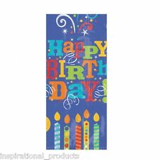 Amscan 20 Pack HAPPY BIRTHDAY GIFT BAGS Cello Cellophane Printed With Twist Ties