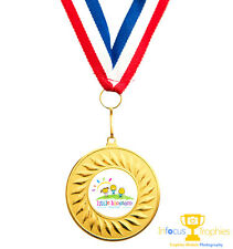 10 x Pre School Nusery Sports Day Medals Personalised + Ribbons FREE DELIVERY
