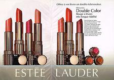 PUBLICITE ADVERTISING 035  1994  ESTEE LAUDER  rouge à lèvres  DOUBLE COLOR ( 2p