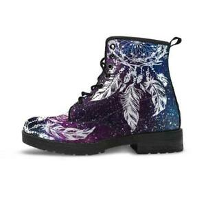 NWB Purple/Blue/White Dream Catcher Handcrafted Women's Vegan-Friendly Boots