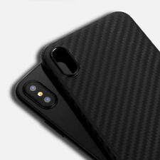 0.3mm  Thin Slim Matte Carbon Fiber Hard Back Case Cover For Apple iPhone X