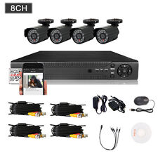 8CH Channel Outdoor 960H DVR HDMI 800TVL CCTV Home Video Security Camera System