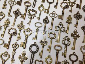 100pcs  antique skeleton keys,pendant heart Wedding decorations,wedding favors