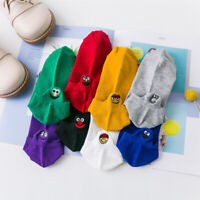Kawaii Women Embroidered Expression Socks Cartoon Cotton Ankle Funny Boat Socks
