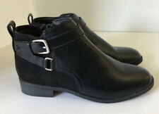 H&M Womens Side Zipper Ankle Black Boots Size 6