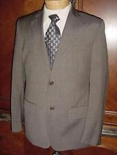 MENS CALVIN KLEIN HEATHERED BROWN WOOL SUIT SIZE S D419