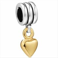 Hot Love Heart charms bead fit 925 silver sterling Snake european bracelet Chain