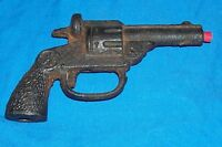 Antique Cast Iron Cap Gun Pistol Toy Revolver Old Vintage Die Cast Collectible