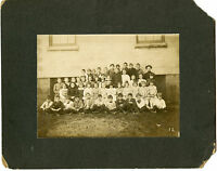 Antique Matted Photo - 1911-ZIESEMER Family Class Group & RPPC-Child-Virginia