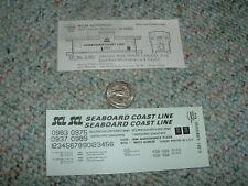 Miller Herald King decals HO C-381 Seaboard Coast borange wide ver caboose  G74