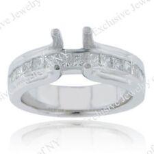 3.00CT Certified Ladies Princess Cut Diamond Engagement Semi Mount Ring 14kt