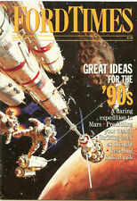 Ford Times Jan/90 Animation Art Micky Mouse Bugs Bunny Expedition To Mars News