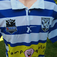 NRL BULLDOGS JERSEY (XXL) 75th Anniversary / Camp Quality-NEW!