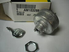 JOHN DEERE IGNITION SWITCH - INCLUDES KEY 140 ,300, 312, 314, 316 - AM103286