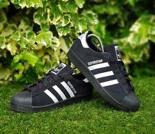BNWB & Authentic Adidas originals ® Superstar Black Suede Trainers UK Size 9.5