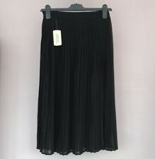 BNWT Pleated Skirt With Shorts Underneath Size XS 6 8 Midi Black Forever 21 New