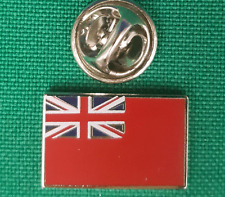 Merchant Navy Red Ensign Flag Lapel Pin badge in Pouch Gift Idea M083
