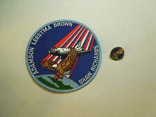 Lot of 2 NASA Space Shuttle Mission STS-28 Columbia Iron On Patch & Pin