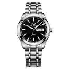 Rotary Mens Timepieces Legacy Silver Steel Bracelet Watch RRP £295