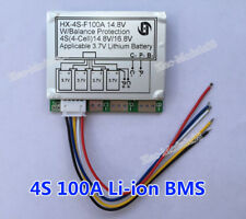 4S 100A 14.8v Li-ion Lithium 18650 Battery Cell BMS PCB Protection Balance Board