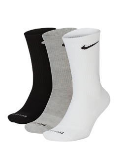 Nike Everyday Plus Dri-Fit Cushion Training Crew Socks (3 Pairs) | Size 8-12