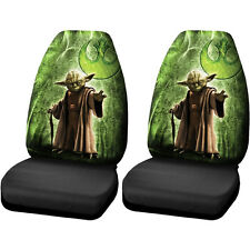 Licensed Star Wars Jedi Master Yoda Front High Back Seat Covers Car Truck SUV