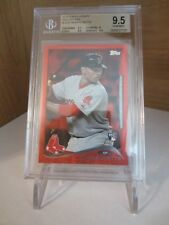 BGS 9.5 Gem Mint 2014 Topps Update SP Red Hot Foil #US26 Mookie Betts RC Red Sox