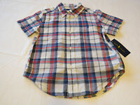 Baby boy's Polo Ralph Lauren 3 3T Toddler button up shirt white red blue NWT