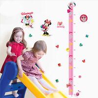 Minnie Mouse Height Chart Wall Sticker Girls Room Nursery Decor Vinyl Decal Gift