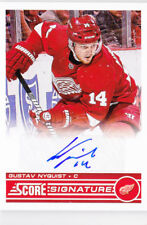 13-14 Score Gustav Nyquist Auto Signatures Red Wings 2013