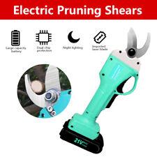 1X 30mm Metal Electric Pruning Shears Garden Cordless Cutter Pruner Branch Tool