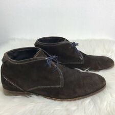 H By Hudson Mens Chukka Boots Dark Brown Lace Up Casual Dress Shoes 45 11.5