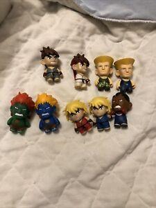 9 Figure Lot: Kidrobot - Capcom Street Fighter - Ken - Green Blanka - Vinyl Toy