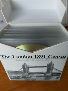 London 1891 Census CD-ROM, 38 CD Boxed Set, Indexed, View Original Documents.