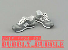 "1/6 Sneakers GRAY For 12"" Hot Toys TBLeague Hot Toys Male Figure SHIP FROM USA"