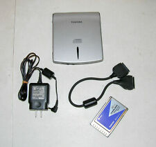 GENUINE OEM TOSHIBA LIBRETTO L1 ~ L5 CD ROM DRIVE w/ CABLE PCMCIA CARD & CHARGER