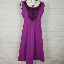 Eddie Bauer Women's Sleeveless Crochet Hyacinth Embel Knit Purple Dress Size M