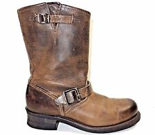 AMPUTEE Frye Veronica Distressed Dark Brown Leather Buckle RIGHT BOOT ONLY 9.5