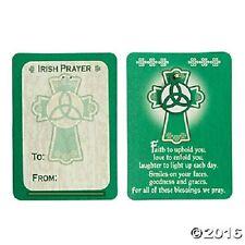 Irish Celtic Prayer Wallet Card W/Charm Rubber Charm Faith Blessing Card & Charm