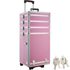 TecTake Maletín para Cosméticos con 4 Compartimentos - Rosa