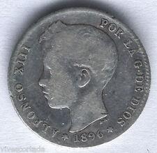 Alfonso XIII 1 Peseta 1896 Tupe @ Bella @
