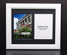CreativePF 2 Opening Multi 5x7 White Picture Frame w/ 10x12 Black Collage Mat