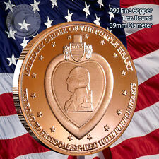 """Purple Heart"" 1 oz .999 Copper Round Limited and Rare No longer in mint"