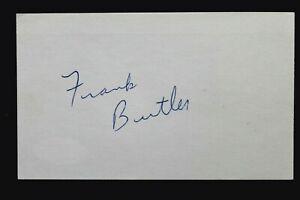 Frank Butler (d.1979) Notre Dame Packers Signed Autographed 3x5 Index Card JSA