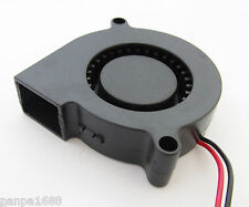 1x Brushless DC Cooling Blower Fan 50mm 5015S 50x50x15mm 12V 2pin/2wire